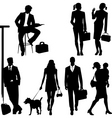 global team silhouettes vector image