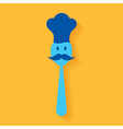 A chef made by spoon stock vector image