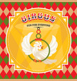 circus card with a parrot vector image