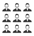 Hipster With Mustache Set on White Background vector image