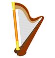 instrument harp vector image