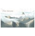 Mountain landscape Watercolor imitation in vector image