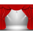 red curtain with lights vector image