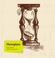 Vintage clock hourglass vector image