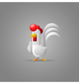 White Rooster New Year 2017 Year of the Rooster vector image