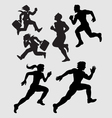 Running Silhouettes 1 vector image