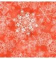 Christmas seamless pattern on orange vector image vector image