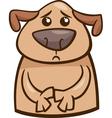 mood sad dog cartoon vector image
