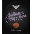 halloween menu chalkboard restaurant background vector image