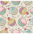 Background with cupcakes vector image
