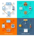 Heating System Icon Set vector image vector image