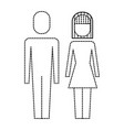 couple business man and woman standing vector image