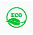 Eco logo Round organic symbol design vector image
