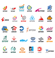 large set of logos arrow vector image