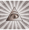 Pyramid Eye vector image