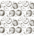 seamless background of apples vector image