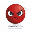 emoticon with angry face icon vector image