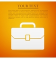 Business case flat icon on orange background vector image