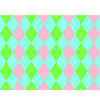 Sweet colors fabric texture argyle seamless vector image