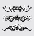 Decorative Swirl Ornamental vector image vector image