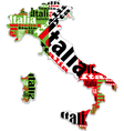 A map of Italy vector image