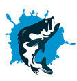 fish and water silhouette vector image vector image