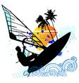 windsurfing vector set vector image vector image