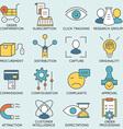 Customer relationship management - part 8 vector image vector image