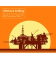 Sea oil rig Offshore drilling platform vector image