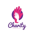 clean charity center logo Hospital vector image