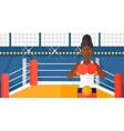 Confident boxer in gloves vector image