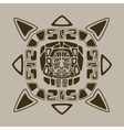 aztec face design vector image