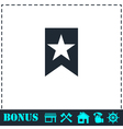 Bookmark icon flat vector image