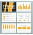 business presentation template set Graph vector image