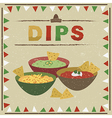 mexican dips vector image