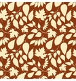 Autumn seamless pattern with leaves silhouettes vector image