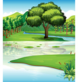 Land and water resources vector image