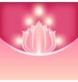 pink flower blurred background vector image