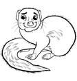 Mongoose animal cartoon coloring book vector image