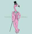 fashion animal anthropomorphic design furry art vector image