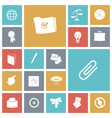 icons tile business office vector image vector image