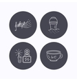 Baby wc video monitoring and songs icons vector image