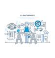 customer service problem solving communication vector image