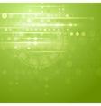 Green hi-tech background vector image