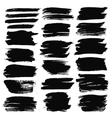 Grunge Brush Strokes Backgrounds Set vector image