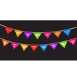 Happy Birthday Party Background with Flags vector image
