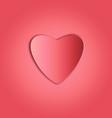 Heart paper copy vector image