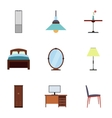 Home furniture icons set flat style vector image