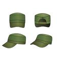 Military cap vector image