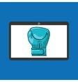 sport laptop app concept glove boxing vector image